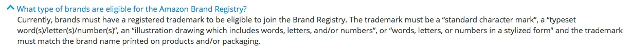 Amazon Brand Registry Requirement