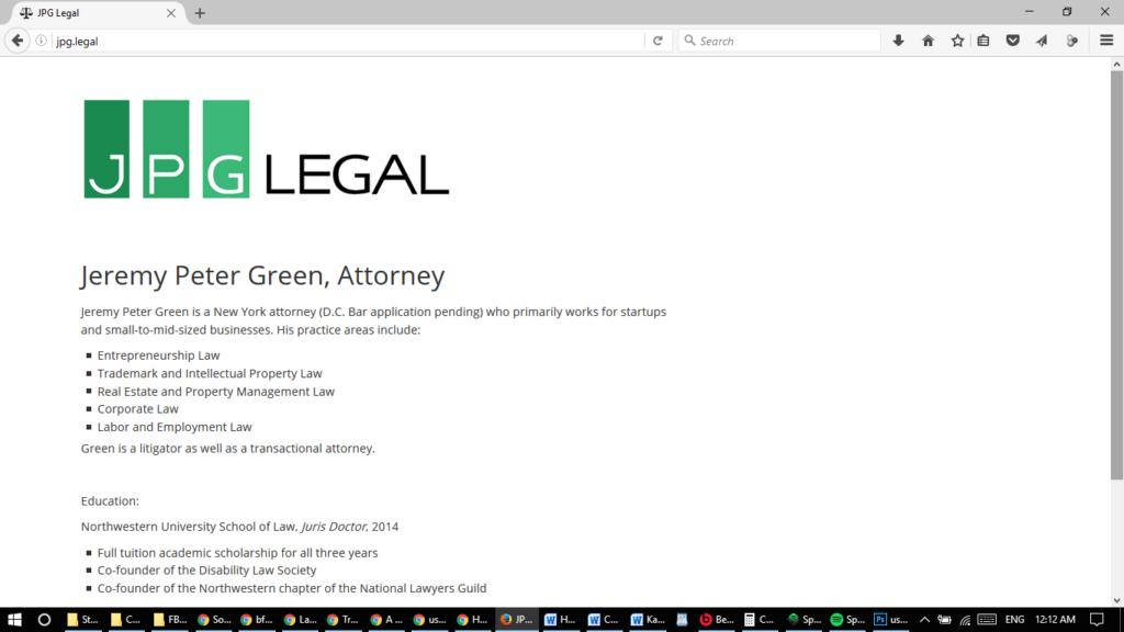 2016 JPG Legal website screenshot